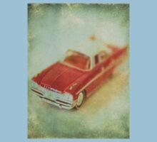 Vintage Cherry Red Chrysler De Soto One Piece - Short Sleeve