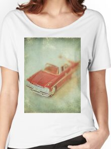 Vintage Cherry Red Chrysler De Soto Women's Relaxed Fit T-Shirt