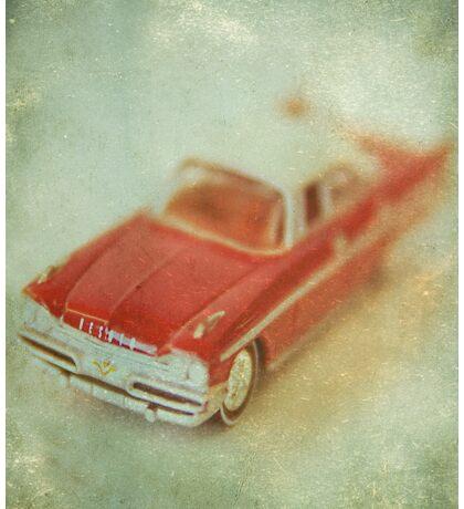 Vintage Cherry Red Chrysler De Soto Sticker