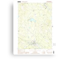 USGS TOPO Map New Hampshire NH Farmington 329560 2000 24000 Canvas Print