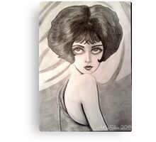 Clara Bow Caricature Canvas Print