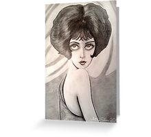 Clara Bow Caricature Greeting Card