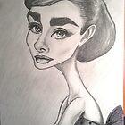 Audrey Hepburn Caricature by loflor73