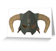 Iron Helmet Greeting Card