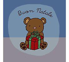 Buon Natale Teddy Photographic Print