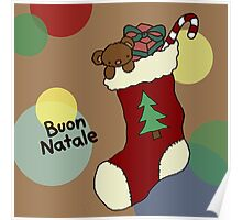 Buon Natale Stocking Poster