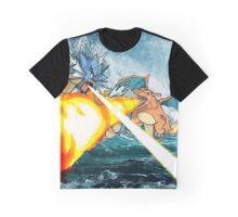 Pokemon - Gyrados vs Charizard Graphic T-Shirt