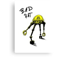 BAD RAT IN RETRO YELLOW Canvas Print