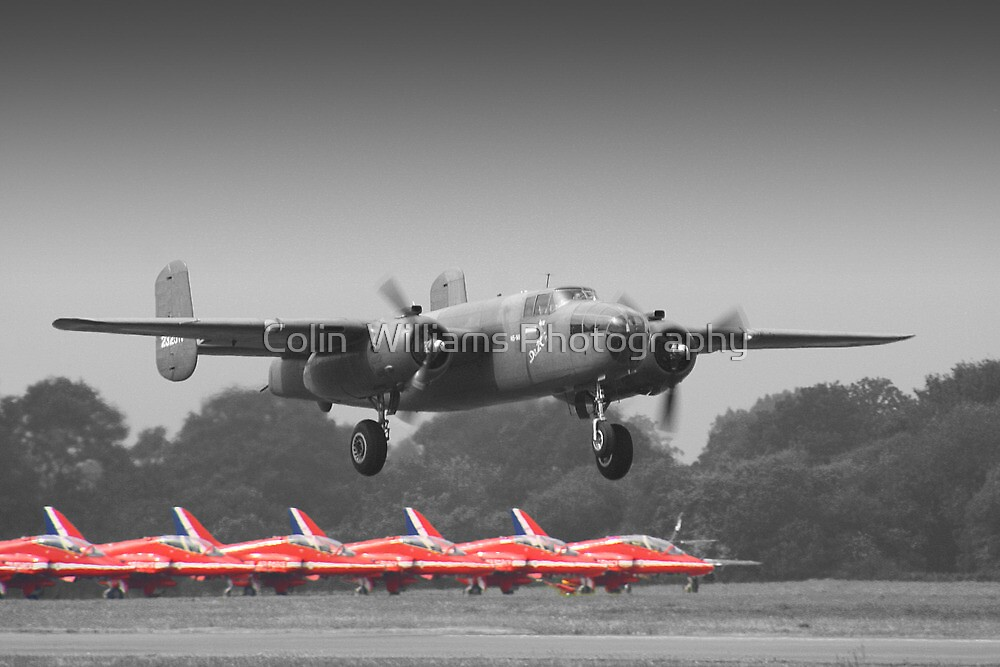 B-25J Mitchell And The Reds - Dunsfold 2013 by Colin  Williams Photography
