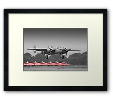 B-25J Mitchell And The Reds - Dunsfold 2013 Framed Print
