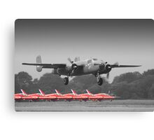 B-25J Mitchell And The Reds - Dunsfold 2013 Canvas Print