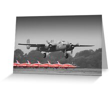B-25J Mitchell And The Reds - Dunsfold 2013 Greeting Card