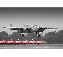 B-25J Mitchell And The Reds - Dunsfold 2013 Photographic Print