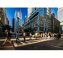 Chicago street in the setting sun Photographic Print