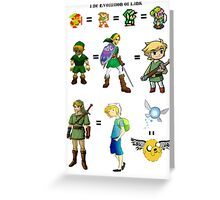 Link's Past Greeting Card
