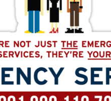IT Crowd - Emergency Services Sticker
