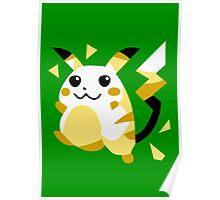 Retro Pikachu Poster