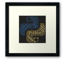 Python Programmer & Developer T-shirt & Hoodie NEW Framed Print