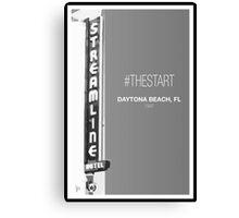 #TheStart (Black+White Edition) Canvas Print