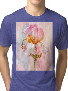 Bearded Iris in Pastels Tri-blend T-Shirt