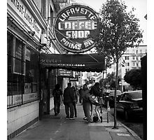 Lafayette Coffee Shop Photographic Print