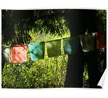 Tibetan Prayer Flags Poster