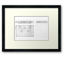 Cassette Tape Projection Framed Print