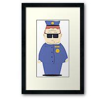 Officer Barbrady Framed Print