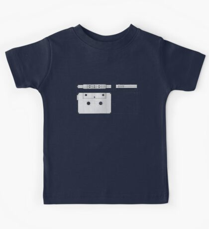 Cassette Tape Projection Kids Tee