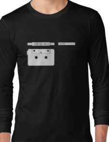 Cassette Tape Projection Long Sleeve T-Shirt