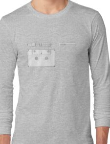Cassette Tape Projection Long Sleeve T-Shirt
