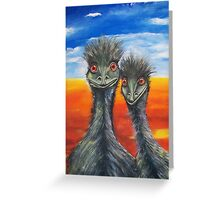 Cheeky Emus Greeting Card