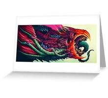 Hyper Beast Design Greeting Card