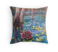 Waterlily Swamp Throw Pillow
