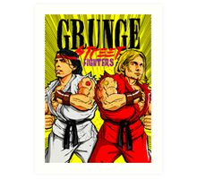 Grunge Street Fighters Art Print