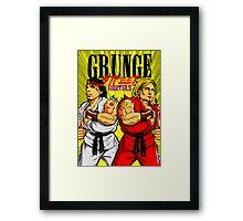 Grunge Street Fighters Framed Print