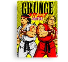 Grunge Street Fighters Canvas Print