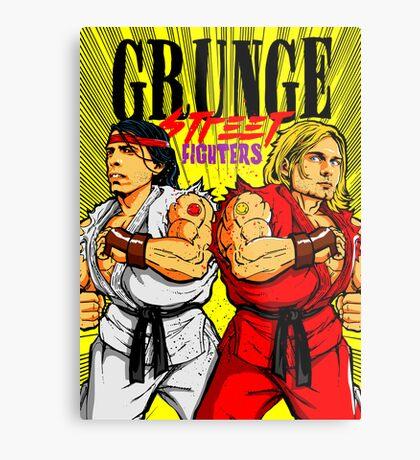 Grunge Street Fighters Metal Print