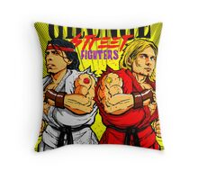 Grunge Street Fighters Throw Pillow