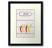 Chili Framed Print
