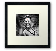Shouting Sadhu Framed Print