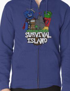 Survival Island Zipped Hoodie
