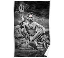 Yogi With Trident - Naked In Ashes Poster