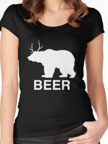 Beer Bear Women's Fitted Scoop T-Shirt