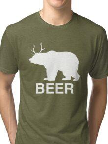 Beer Bear Tri-blend T-Shirt