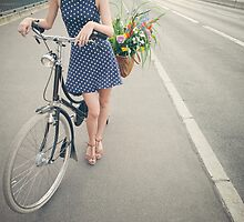 Pretty Girl With Bicycle by visualspectrum