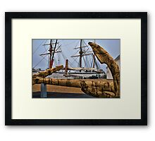 Cork Anchor Framed Print
