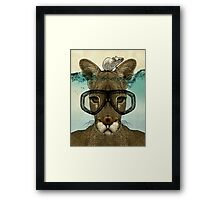 Skuba Roo and the white mouse Framed Print