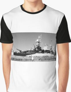 USS North Carolina Battleship Graphic T-Shirt