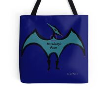 Pterodactyls in Blue with Pink Feathers Tote Bag
